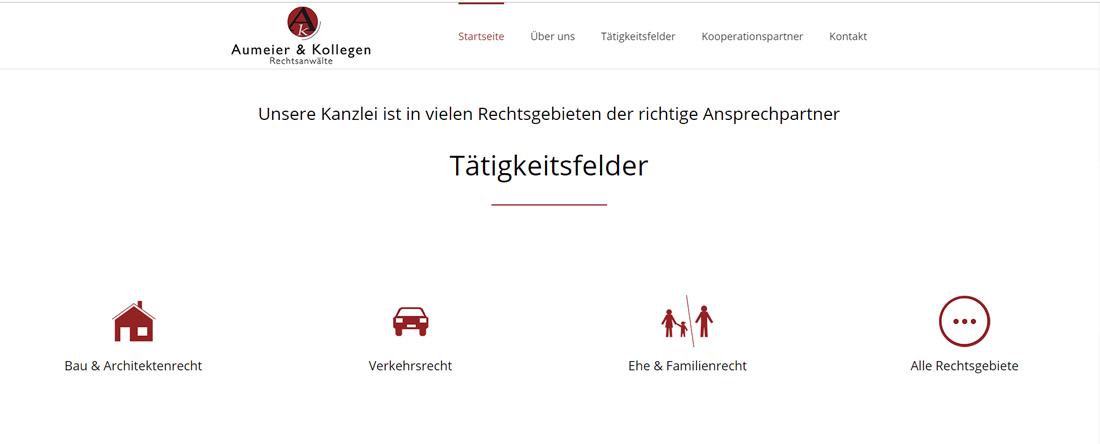 Aumeier & Kollegen Website gestaltet durch woiddesign.